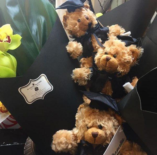 GRADUATION TEDDY BEAR flower